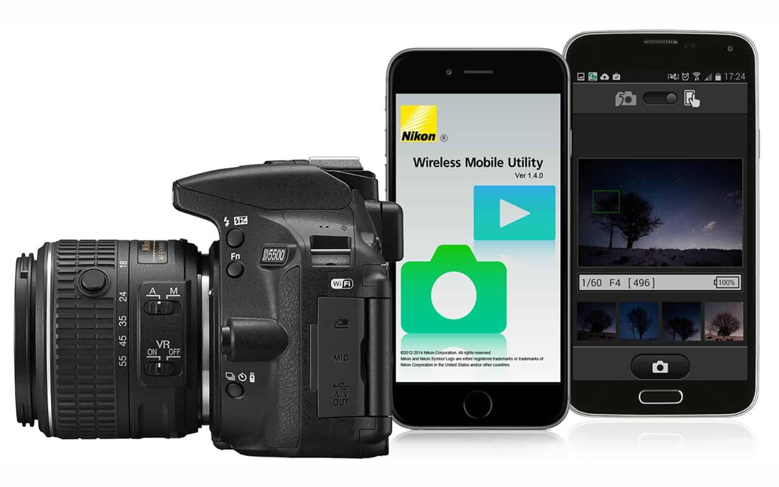 Collegamento wifi tra fotocamera Nikon e dispositivi mobili mediante l'applicazione WMU